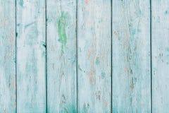 Uitstekende blauwe houten achtergrond met schilverf Stock Afbeelding