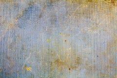 Uitstekende blauwe textieltextuur met krassen en vuile vlekken abstracte achtergrond stock afbeelding
