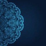 Uitstekende blauwe uitnodiging royalty-vrije illustratie