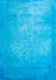 Uitstekende blauwe waterverfdocument textuur Royalty-vrije Stock Afbeelding