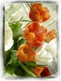 Uitstekende bloem vector illustratie
