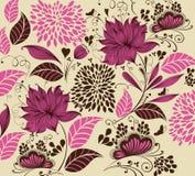 Uitstekende bloemachtergrond Royalty-vrije Stock Foto