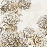 Uitstekende bloemachtergrond Stock Afbeeldingen