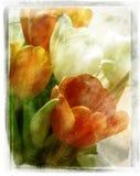 Uitstekende bloemen Royalty-vrije Stock Afbeelding
