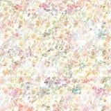 Uitstekende bloemen botanische de lenteachtergrond in zachte pastelkleuren vector illustratie