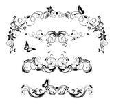 Uitstekende bloemen decoratieve kopballen en titelinzameling Rebecca 36 royalty-vrije stock foto