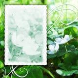 Uitstekende bloemen geweven achtergrond Stock Fotografie