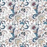 Uitstekende bloemen naadloze achtergrond in de stijl van de Provence royalty-vrije illustratie