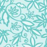 Uitstekende bloemen naadloze de wervelings van de patroon decoratieve uitstekende textuur vectorillustratie als achtergrond Stock Afbeelding