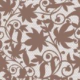 Uitstekende bloemen naadloze de wervelings van de patroon decoratieve uitstekende textuur vectorillustratie als achtergrond Stock Foto's