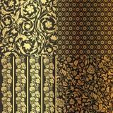 Uitstekende Bloemen naadloze overladen patronen. Stock Fotografie