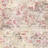 Uitstekende Bloemen Sjofele Elegante Achtergrond met manuscript stock afbeeldingen
