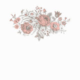 Uitstekende bloemen vectorkaart stock illustratie