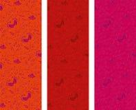 Uitstekende bloemen verticale banners Stock Foto