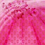 Uitstekende bloemenachtergrond Stock Foto's