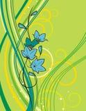 Uitstekende bloemenachtergrond Royalty-vrije Stock Foto