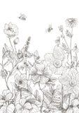 Uitstekende bloemenachtergrond Royalty-vrije Stock Fotografie