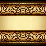 Uitstekende bloemenachtergrond, antieke stijluitnodiging Royalty-vrije Stock Fotografie
