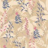 Uitstekende bloemenachtergrond met beige bladeren De textuur van Bourgondi? voor stoffen en tegels royalty-vrije illustratie
