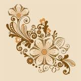 Uitstekende bloemenachtergrond met decoratieve bloemen voor ontwerp Royalty-vrije Stock Fotografie