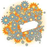 Uitstekende bloemenachtergrond met exemplaarruimte Stock Foto's