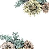 Uitstekende bloemenachtergrond voor uw tekst Stock Afbeeldingen