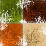 Uitstekende bloemenachtergronden Stock Afbeeldingen