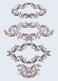 Uitstekende bloemenframes Stock Afbeelding
