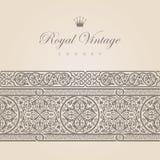 Uitstekende Bloemengrens Royalty-vrije Stock Afbeelding