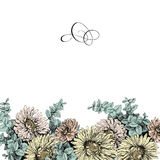 Uitstekende bloemengrens voor uw tekst Royalty-vrije Stock Afbeeldingen