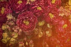 Uitstekende bloemenjute voor achtergrond Royalty-vrije Stock Foto