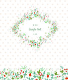 Uitstekende bloemenkaart Stock Foto