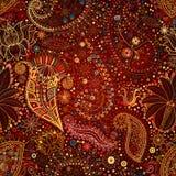 Uitstekende bloemenmotief etnische naadloze achtergrond Royalty-vrije Stock Afbeelding