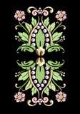 uitstekende bloemenmotiefw/pearl accenten royalty-vrije stock afbeeldingen