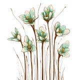 Uitstekende Bloemensamenstelling Royalty-vrije Stock Foto