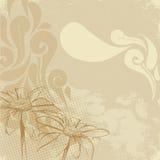 Uitstekende bloemverf Stock Afbeelding