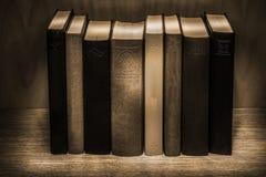 Uitstekende boekensepia royalty-vrije stock fotografie
