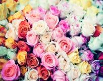 Uitstekende boeketten van rozen Royalty-vrije Stock Foto's
