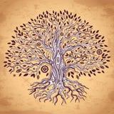 Uitstekende boom van het levensillustratie Royalty-vrije Stock Afbeelding