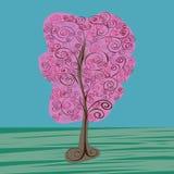 Uitstekende boomvector Royalty-vrije Stock Afbeeldingen