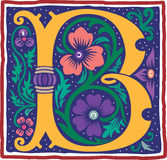 Uitstekende brief B in kleur Stock Afbeeldingen