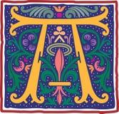 Uitstekende brief A in kleur Royalty-vrije Stock Afbeeldingen