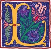 Uitstekende brief L in kleur Royalty-vrije Stock Fotografie