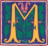 Uitstekende brief M in kleur Stock Foto