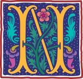 Uitstekende brief N in kleur Royalty-vrije Stock Foto