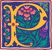 Uitstekende brief P in kleur Royalty-vrije Stock Afbeelding