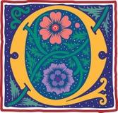Uitstekende brief Q in kleur Stock Foto's