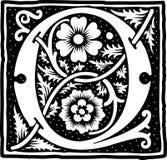Uitstekende brief Q in zwart-wit Royalty-vrije Stock Foto