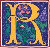 Uitstekende brief R in kleur Royalty-vrije Stock Foto