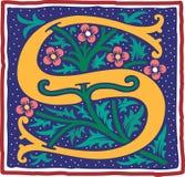 Uitstekende brief S in kleur Stock Foto's